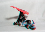 Kenner M.A.S.K. Afterburner 3d color anaglyph loose