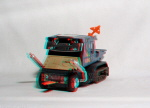 Kenner M.A.S.K. Bulldog 3d color anaglyph loose