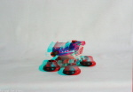 Kenner M.A.S.K. Bullet 3d color anaglyph loose