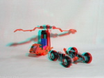 Kenner M.A.S.K. Dynamo 3d color anaglyph loose