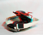 Kenner M.A.S.K. Slingshot 3d color anaglyph loose