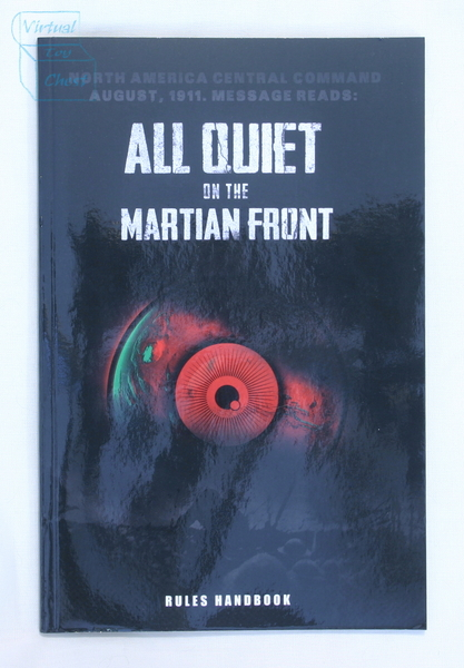 All Quiet on the Martian Front front of mini rulebook