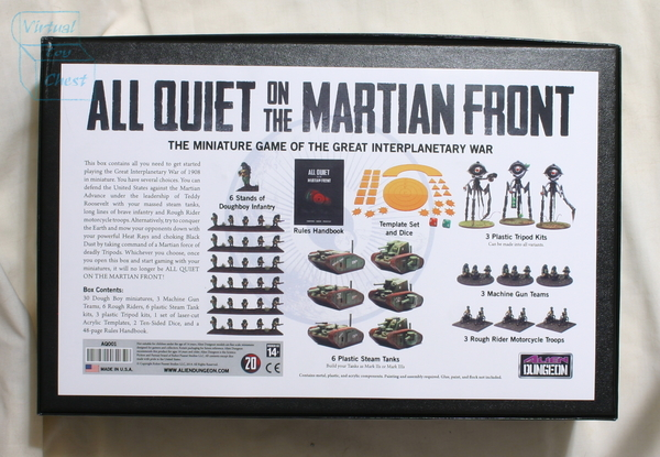 All Quiet on the Martian Front starter set back of box