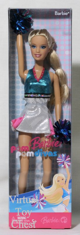 pom pom divas barbie front of box