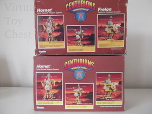 Kenner Centurions Hornet UK and US packaging