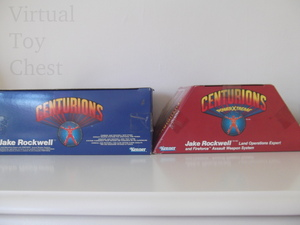 Kenner Centurions Jake Rockell UK and US packaging