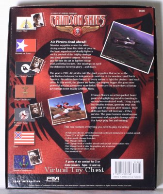 Crimson Skies back of boxed set by FASA