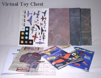 Crimson Skies boxed set contents by FASA