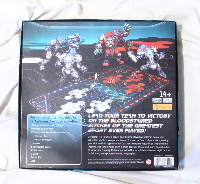 Dreadball Deluxe back of box