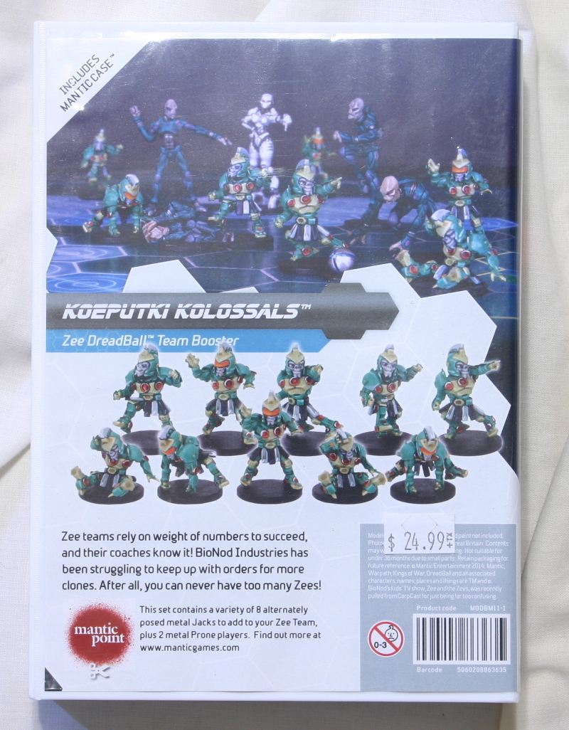 Dreadball koeputki Kolossals back of expansion box