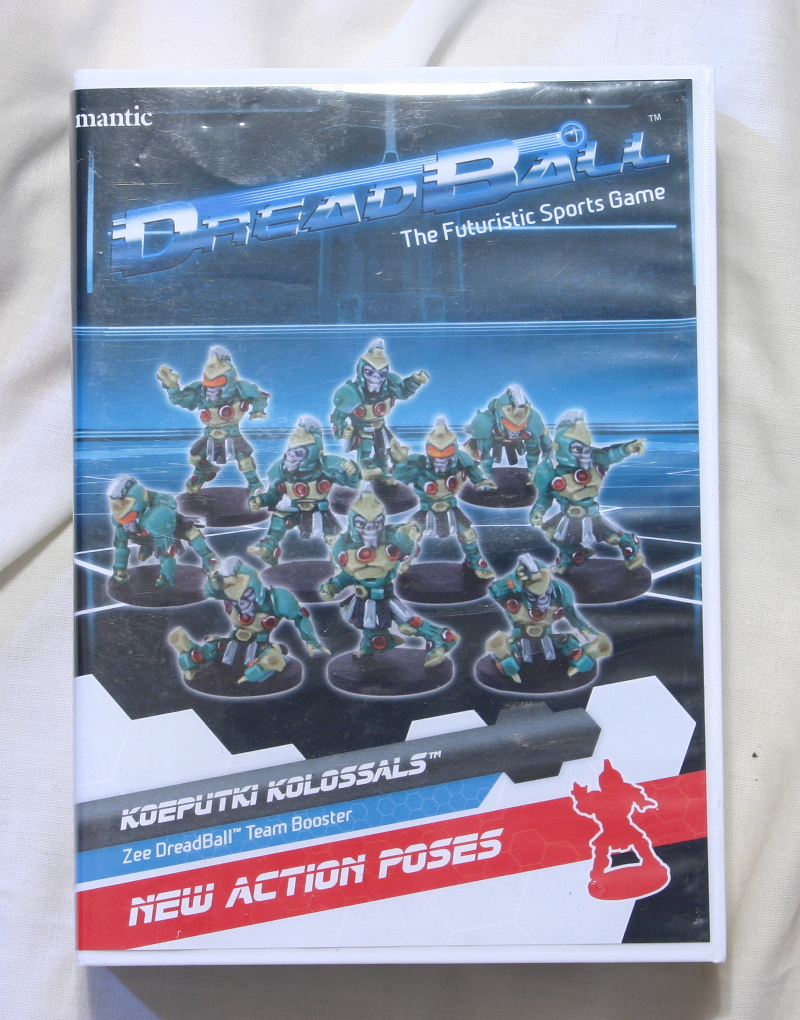 Dreadball koeputki Kolossals front of expansion box