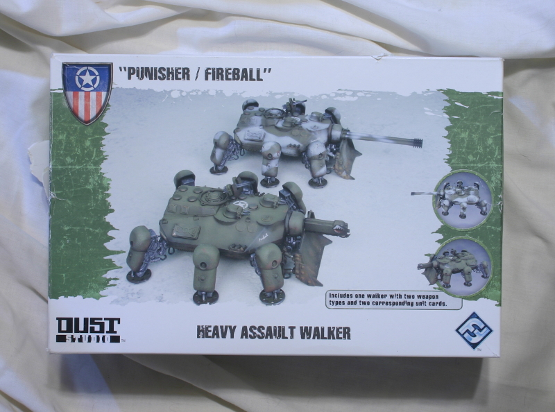 DUST Punisher / Fireball by Fantasy Flight Games front of box