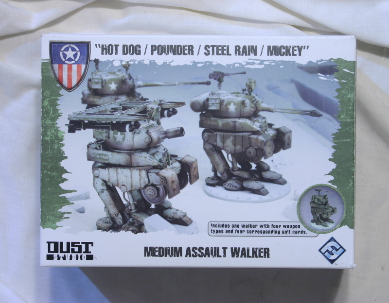 DUST Hot Dog / Pounder / Steel Rain / Mickey by Fantasy Flight Games front of box