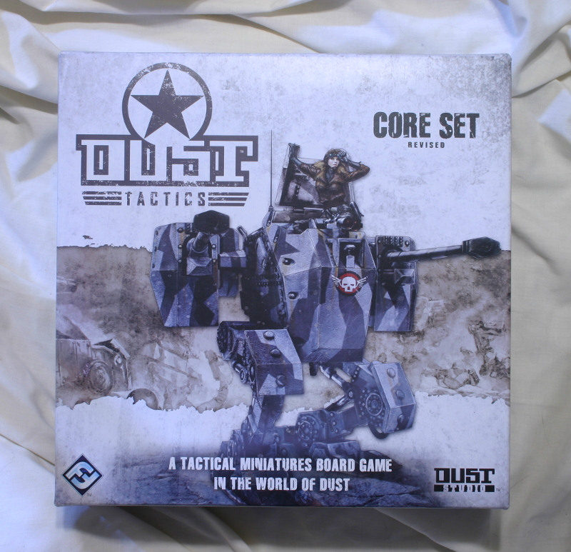 DUST revised boxed set by Fantasy Flight Games front of box