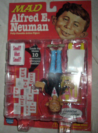 1998 MAD Alfred E. Neuman action figure MOC