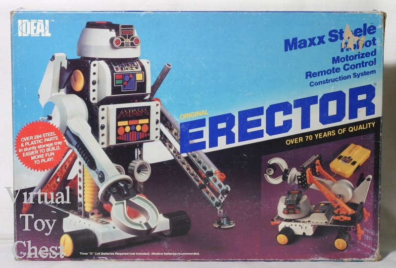 erector maxx steel robo force set box front