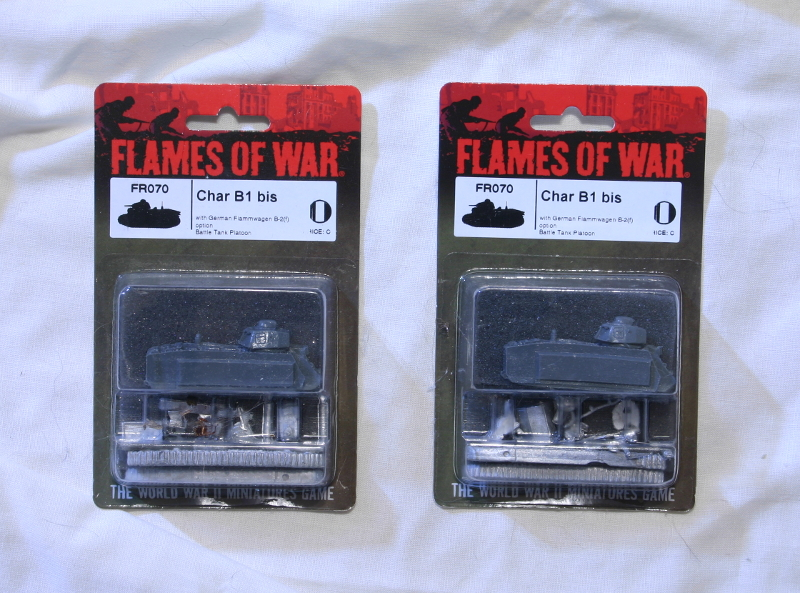 Flames of War French Char B1 bis tanks MOC