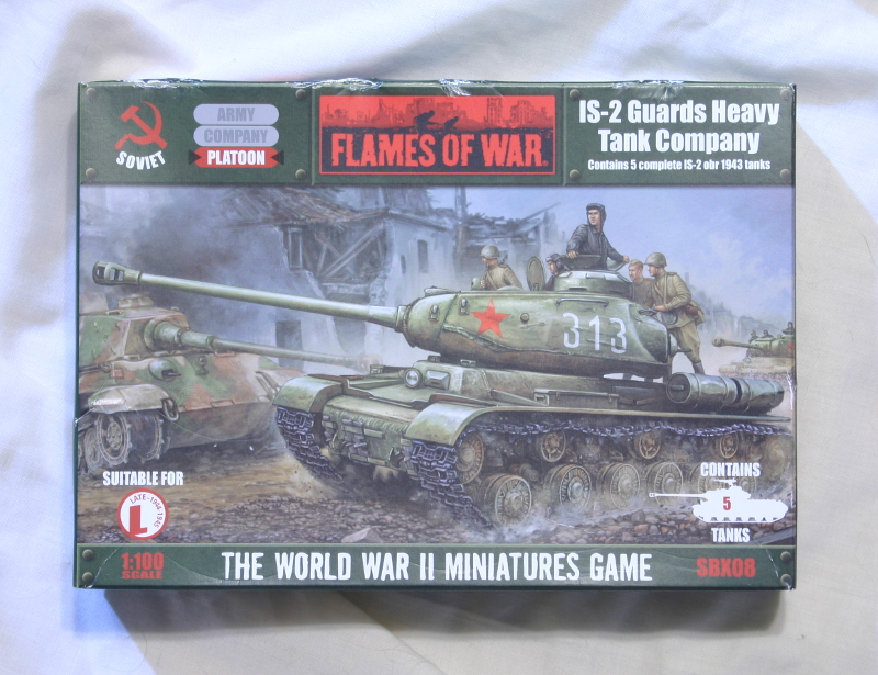 Flames of War Russian IS-2 Guards Heavy Tank Company front of box