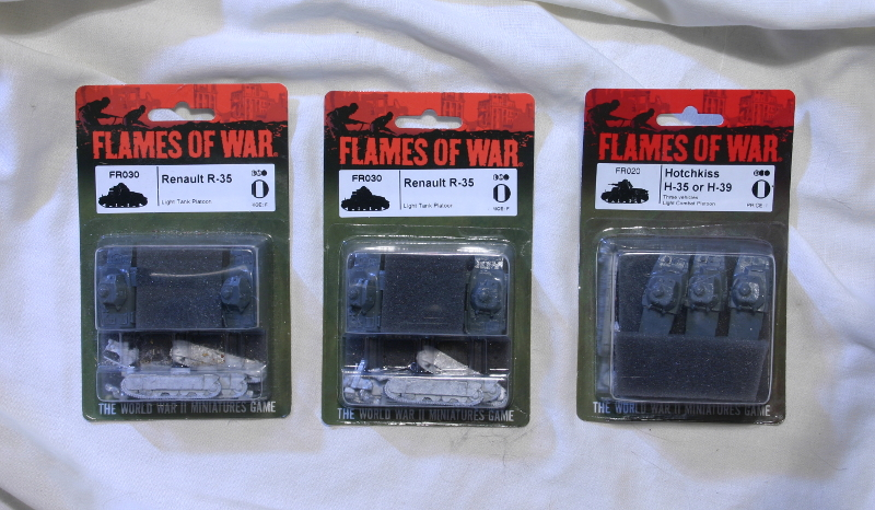 Flames of War French Renault R-35 and Hotchkiss H-39 tanks MOC