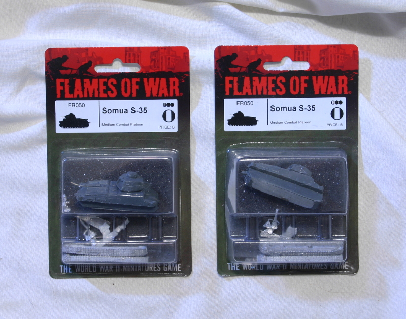 Flames of War French Somua S-35 tanks MOC