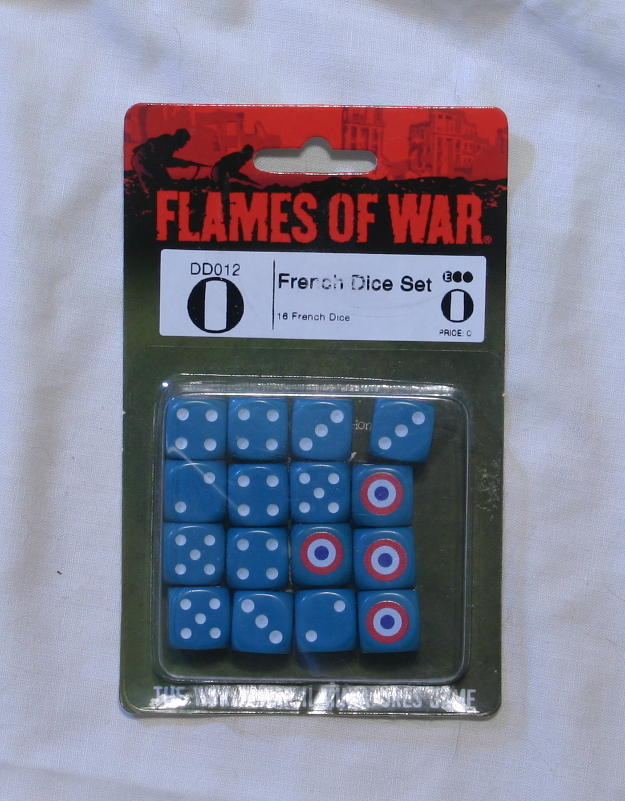 Flames of War French dice