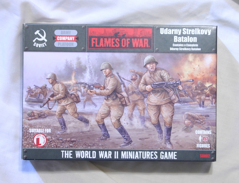 Flames of War Udarny Strelkovy Batalon front of box