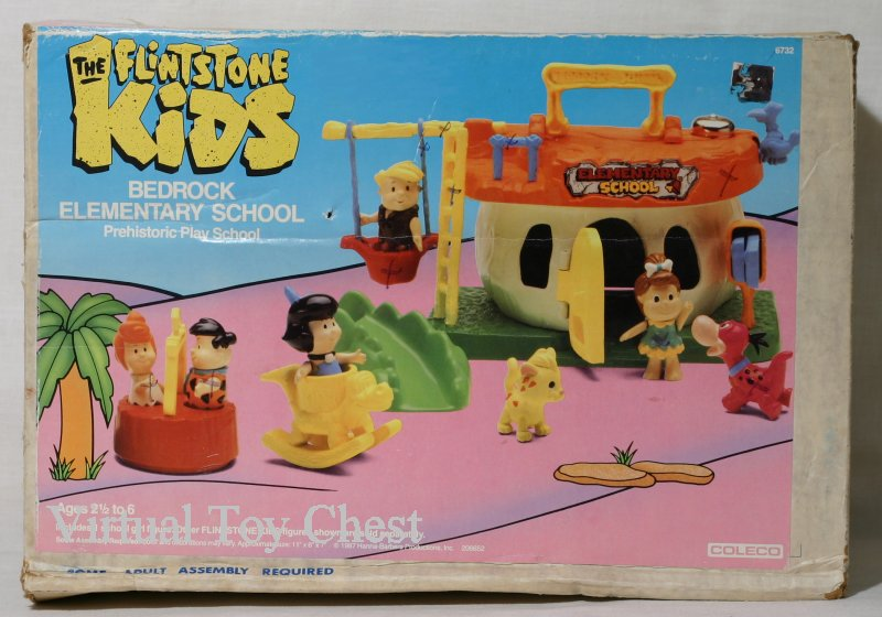 flintstone kids bedrock elementary school front of box