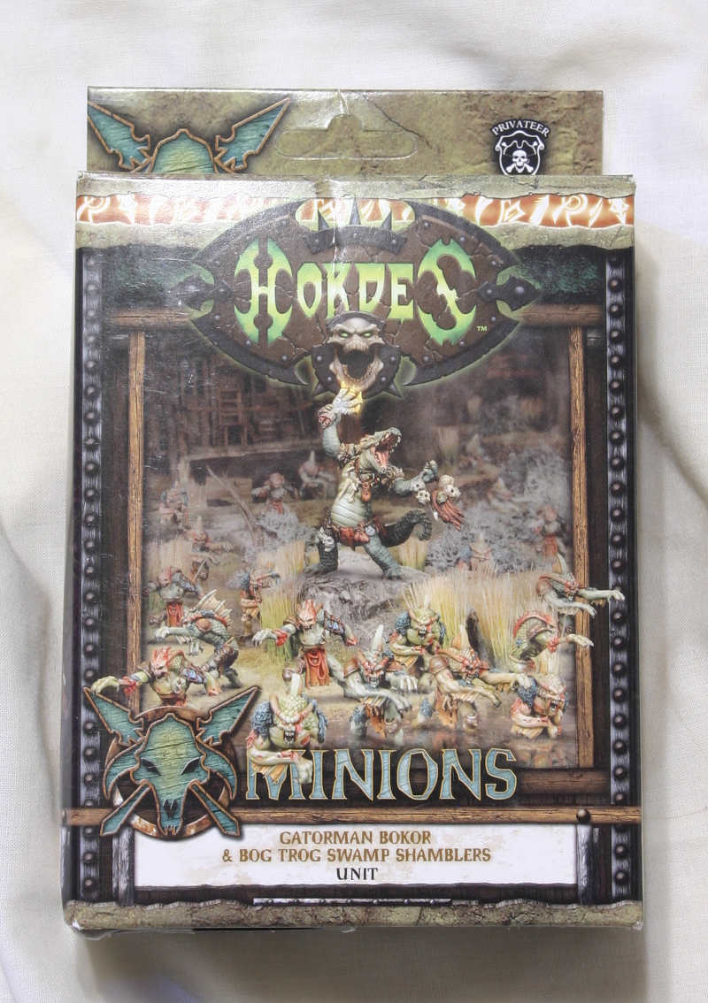Hordes Minions Gatorman Bokor and Bog Trog Swamp Shamblers front of box
