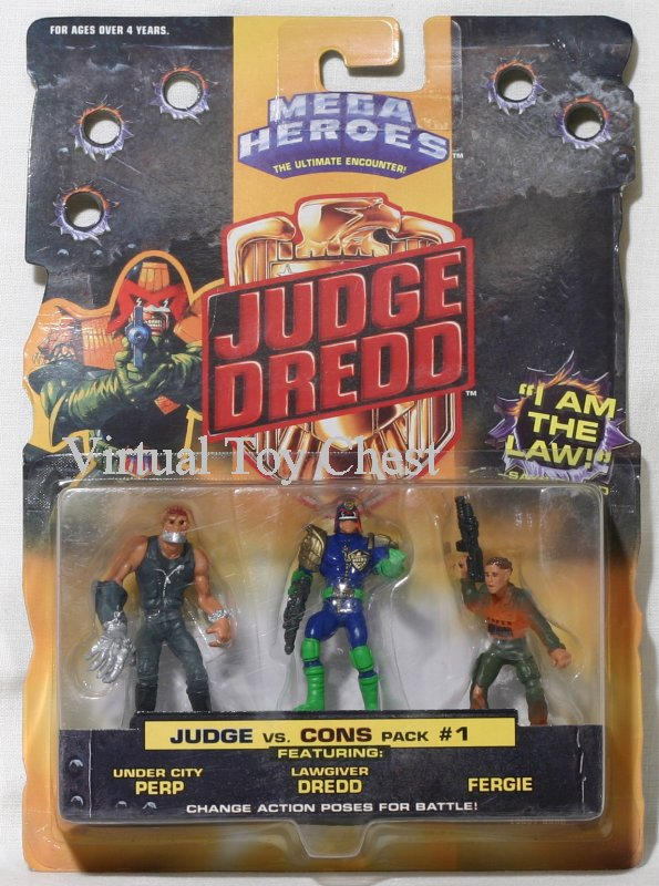 mattel mega heroes judge dredd vs. cons