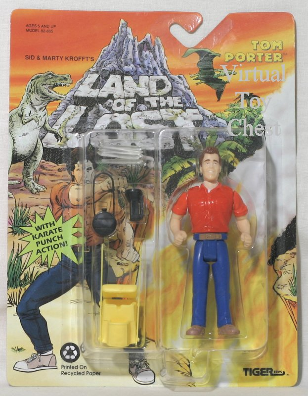 land of the lost tom porter action figure by tiger front of card