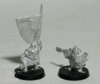 Lord of the Rings Games Workshop Dwarf Captain and Banner