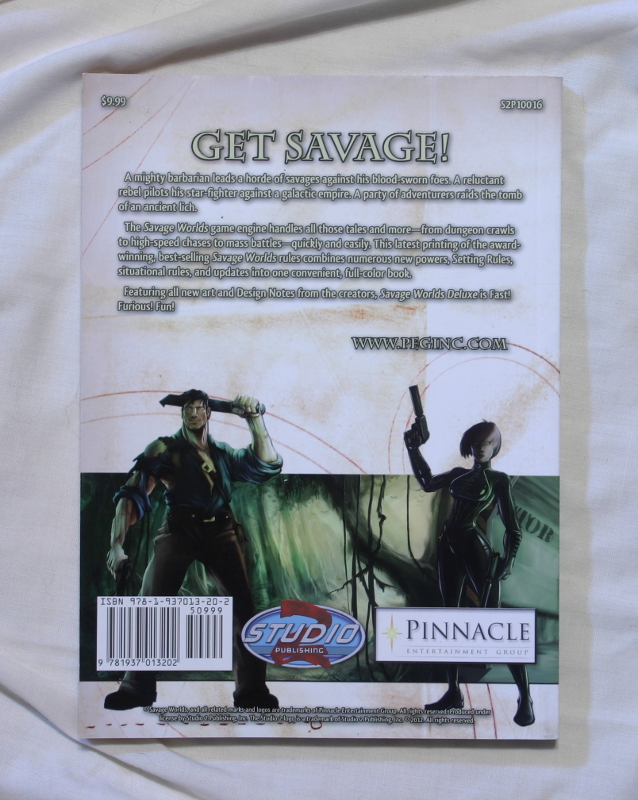 Savage Worlds RPG back cover