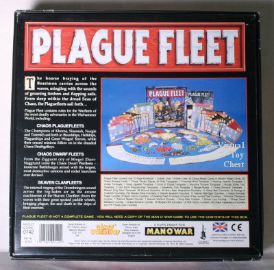 man o war plague fleet games-workshop back of box