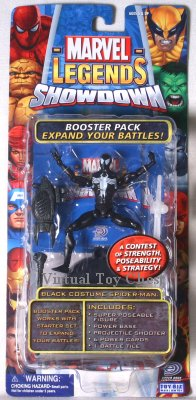 Marvel Showdown toy biz Black Costume Spider-man MOC