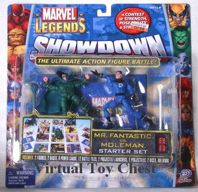 Marvel Showdown toy biz Mr. Fantastic vs. Moleman MOC