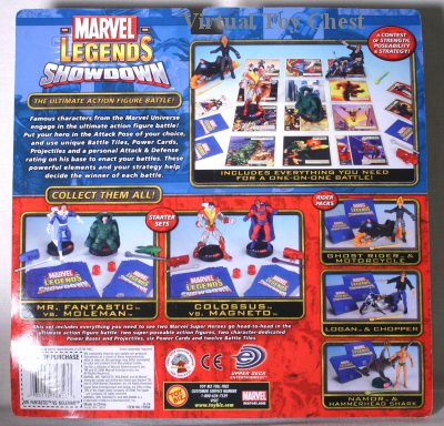 Marvel Showdown toy biz Mr. Fantastic vs. Moleman back of card