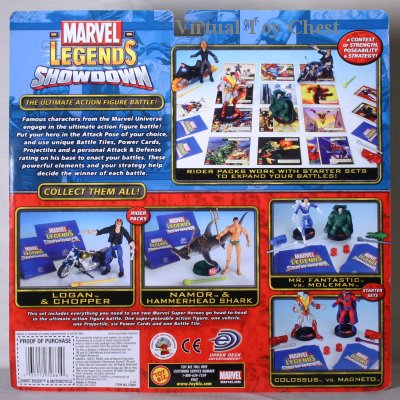 Marvel Showdown toy biz Ghost Rider back of card