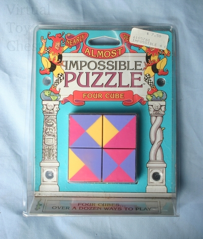 Four Cube puzzle in package
