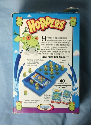 Hoppers puzzle back of Box