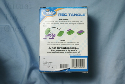 Rec-Tangle puzzle back of card