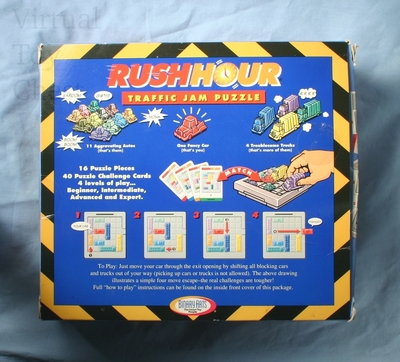 Rush Hour puzzle back of box