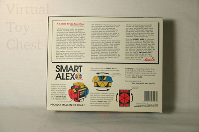 Smart Alex puzzle back of package