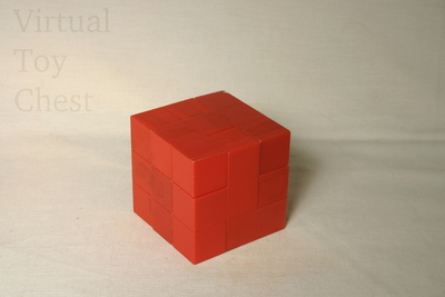 Soma Cube puzzle solved
