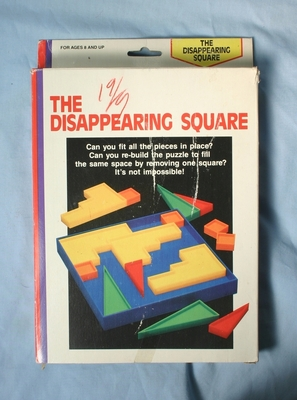The Disappearing Square puzzle front of box