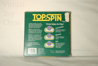 Top Spin puzzle back of box