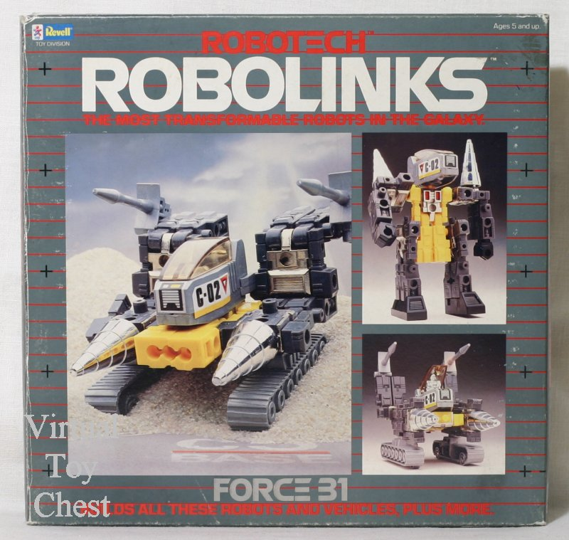 robotech robolinks revell force 31 front of box
