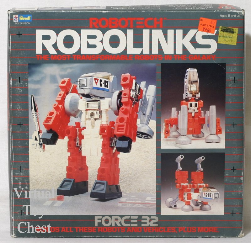 robotech robolinks revell force 32 front of box