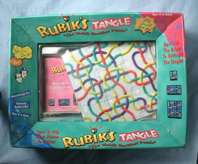 Rubik's Tangle plastic back of box