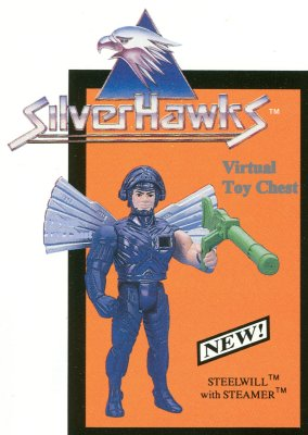 Kenner Silverhawks Steelwill in Ultrasonic Suit