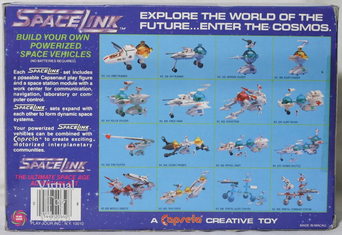 capsela spacelink back of box